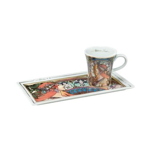 Espresso šálka s podšálkou 2ks, Charles Mackintosh - Wassail, 0,1l, 20x10cm