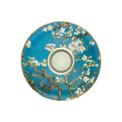 Porcelánová podložka pod čaj.sv. Vincent van Gogh - Almond Tree, 15cm