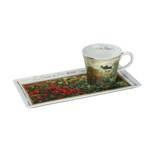 Kávová šálka s podšálkou Claude Monet - The Artist´s House, 0,15l, 24x12cm
