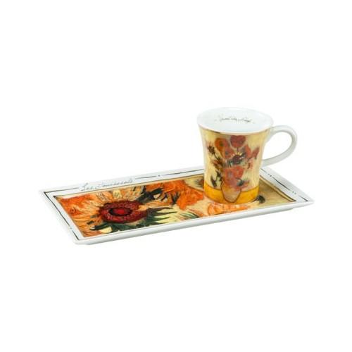 Espresso šálka s podšálkou 2ks, Vincent van Gogh - Sunflowers, 0,1l, 20x10cm