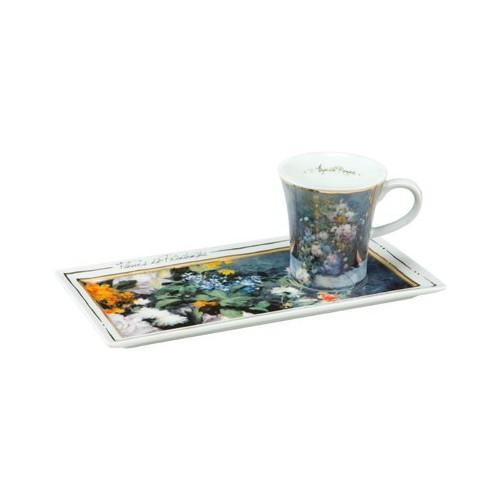 Espresso šálka s podšálkou 2ks, Auguste Renoir - Spring Flowers, 0,1l, 20x10cm