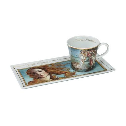 Kávová šálka s podšálkou 2ks, Sandro Botticelli - The Birth of Venus, 0,15l, 20x12cm