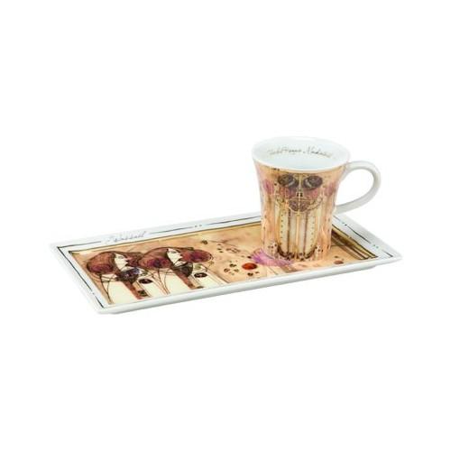 Espresso šálka s podšálkou 2ks, Alphonse Mucha - Zodiac, 0,1l, 20x10cm