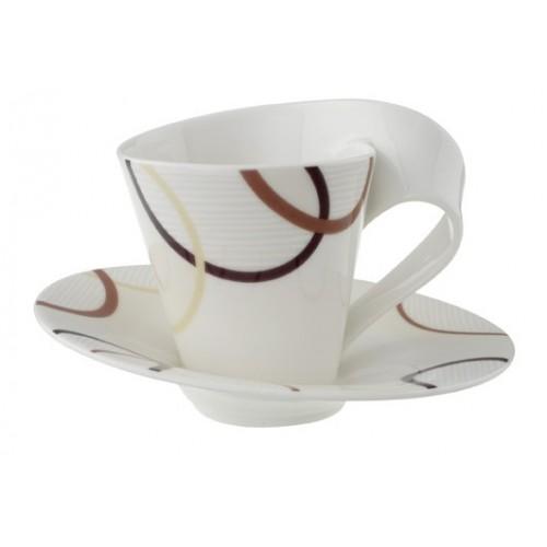 Kávová šálka s podšálkou 2 ks
