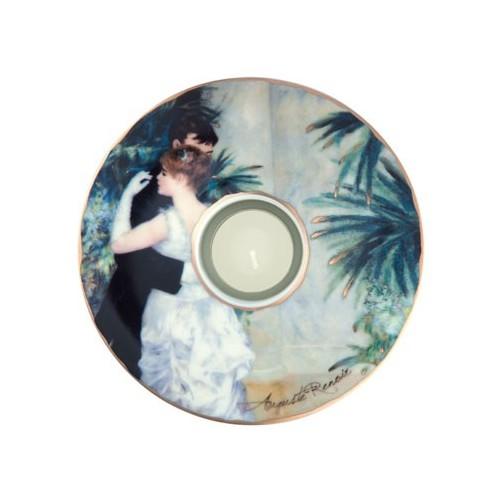 Porcelánová podložka pod čaj.sv. Auguste Renoir - Dance in the City, 15cm