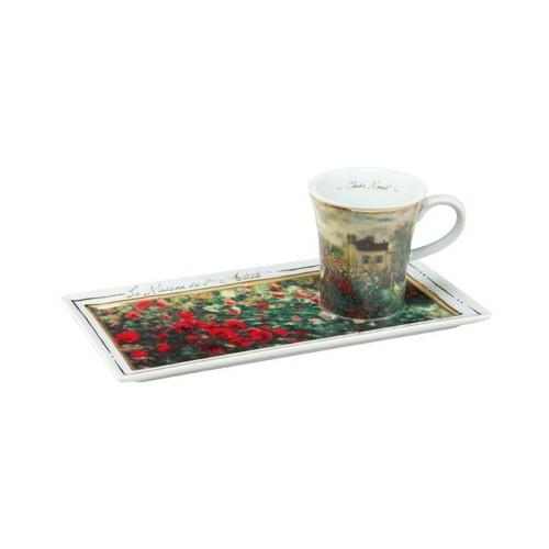 Espresso šálka s podšálkou 2ks, Claude Monet - The Artist´s House, 0,1l, 20x10cm
