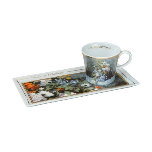 Kávová šálka s podšálkou Auguste Renoir - Spring Flowers, 0,15l, 24x12cm