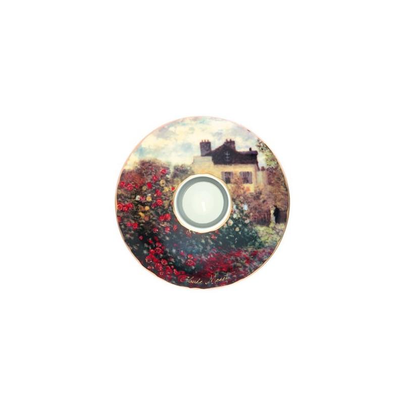 Porcelánová podložka pod čaj.sv. Claude Monet - The Artist´s House, 15cm