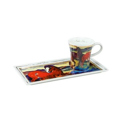 Espresso šálka s podšálkou 2ks, Franz Marc - The Red Horses, 0,1l, 20x10cm