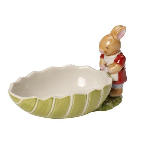 Miska vajíčko zelené so zajačikom 11cm