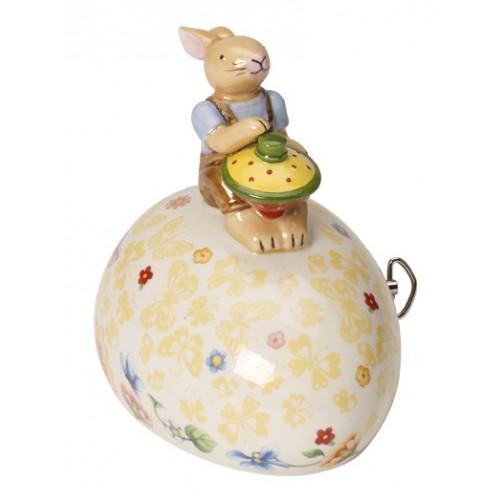 Hrací box vajíčko so zajačikom, 11x8,5x12cm