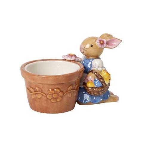 Kvetináčik na čajovú sviečku so zajačicou 6cm