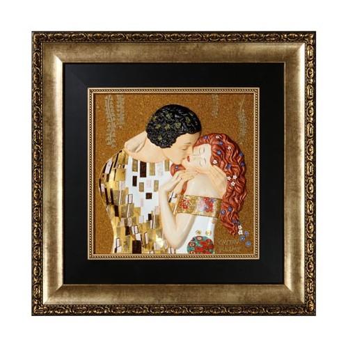 Obraz The Kiss 58x58cm porcelán Limitovaná edícia