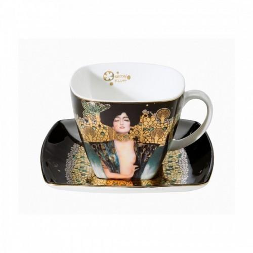 Kávová šálka s podšálkou Judith 10cm/0,25l BON CHINA
