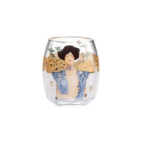 Sklo na čajovú sviečku okrúhle Judith 13,5cm