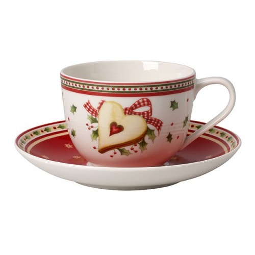 Kávová šálka s podšálkou medovník, set 2ks