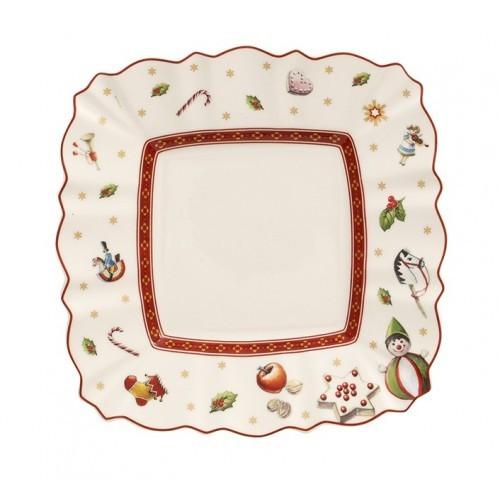 Hranatý chlebový tanier 17x17 cm