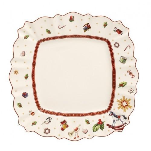 Hranatý plytký tanier 28,5x28,5cm