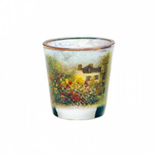 Kryštáľové sklo na čajovú sviečku The Artist´s House v.8cm
