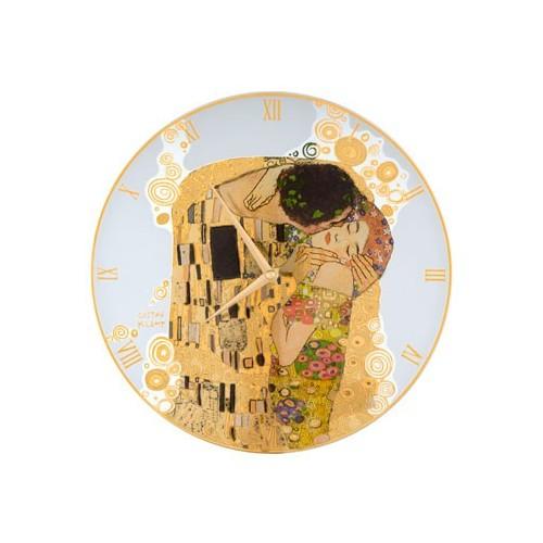 Krištáľové nástenné hodiny The Kiss 30,5cm