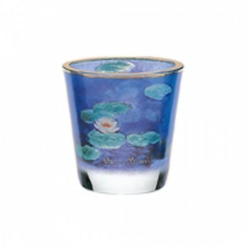 Kryštáľové sklo na čajovú sviečku Evening Flowers v.8cm