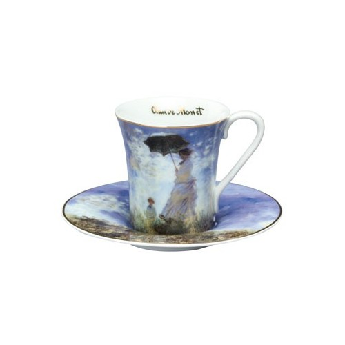 Porcelánová presso šálka s podšálkou Madame Monetv.7,5cm/0,1l