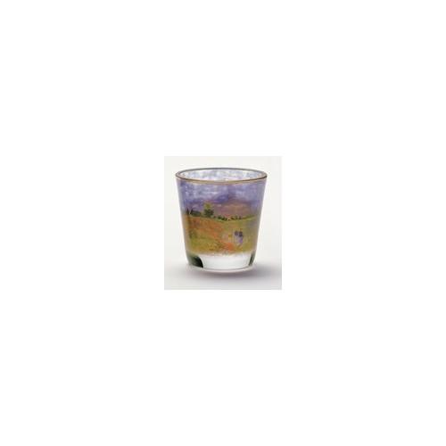 Kryštáľové sklo na čajovú sviečku Poppy Field v.8cm