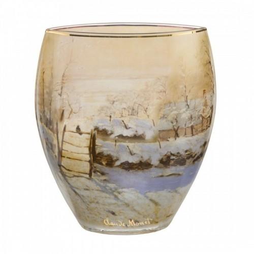 Sklenená váza v-21 cm