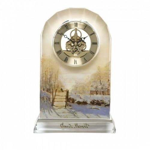 Sklenené hodiny na stôl v-23 cm