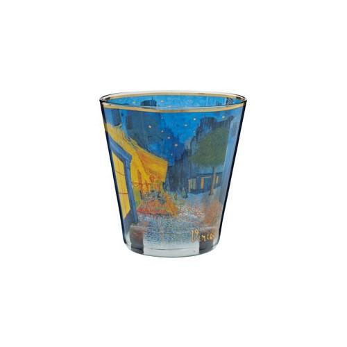 Krištáľové sklo na čajovú sviečku Cafe at Night v.9cm