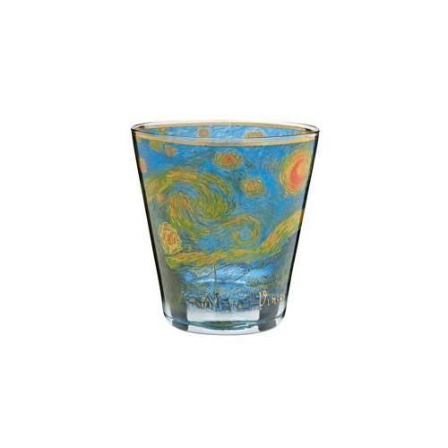 Krištáľové sklo na čajovú sviečku Starry Night v.14cm