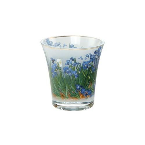Sklo na čajovú sviečku Iris v.10cm