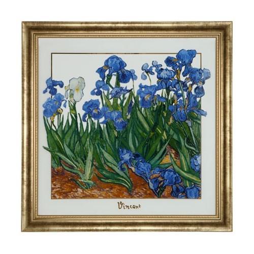 Krištáľový obraz  Iris 60x60cm Limitovaná edícia