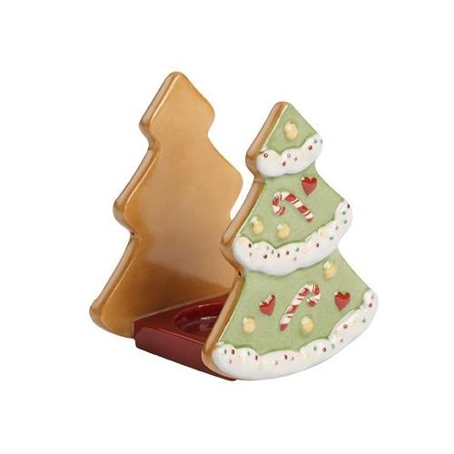 Stojan na čajovú sviečku vianočný stromček 8x7x9cm