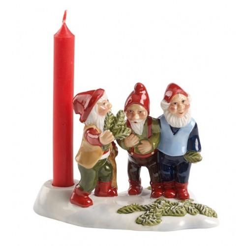 Traja trpaslíci so sviečkou 11x10x8cm