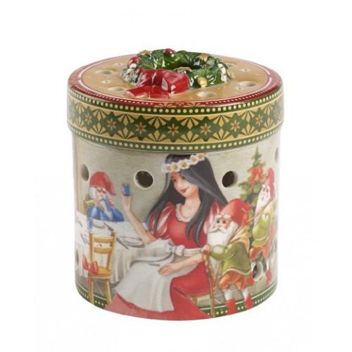 Darčekový box malý orkúhly Snehulienka, v.9cm
