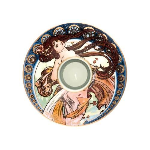 Porcelánová podložka pod čaj.sv. Alphonse Mucha - The Dance, 15cm