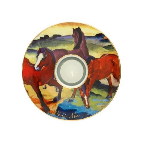 Porcelánová podložka pod čaj.sv. Franz Marc - The Red Horses, 15cm