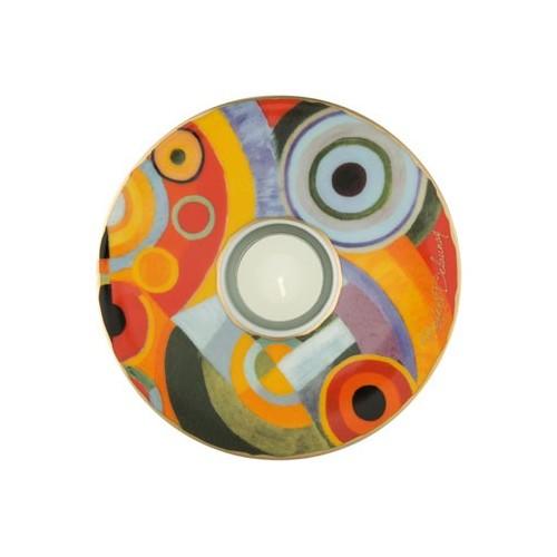 Porcelánová podložka pod čaj.sv. Robert Delaunay - Vitality, 15cm