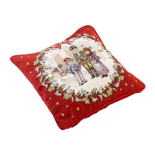 Gobelínový vianočný vankúš Christmas Toys 45x45cm
