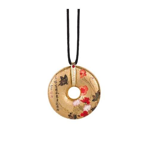 Porcelánový šperk, Ma Yuanyu - Corn Poppies, 4,5cm, 58cm