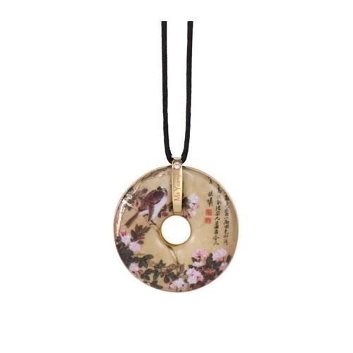 Porcelánový šperk, Ma Yuanyu - Apple Blossoms, 4,5cm, 58cm