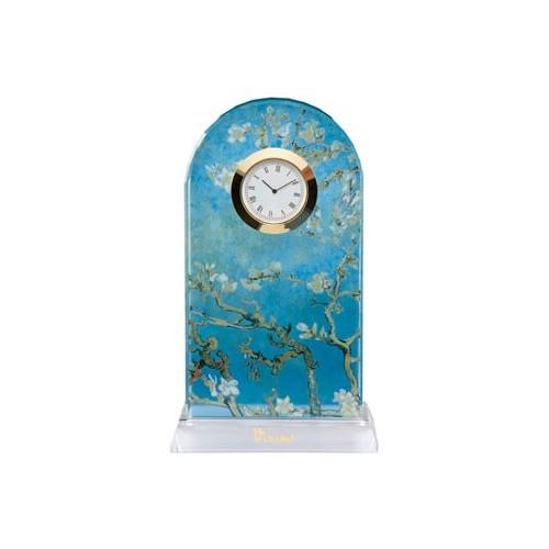 Krištáľové stolové hodiny 18,5 cm