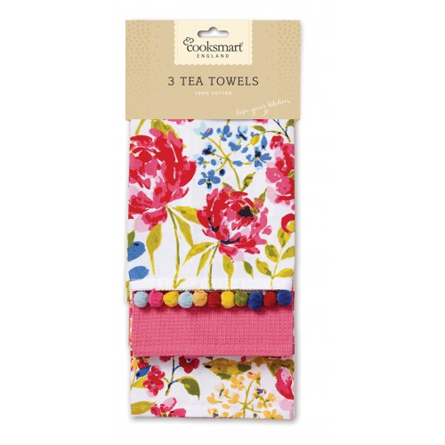 Floral Romance sada kuchynských utierok 3ks