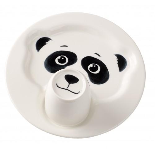 Tanier so šálkou panda