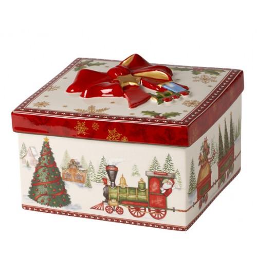 Darčekový box stredný hranatý 13cm