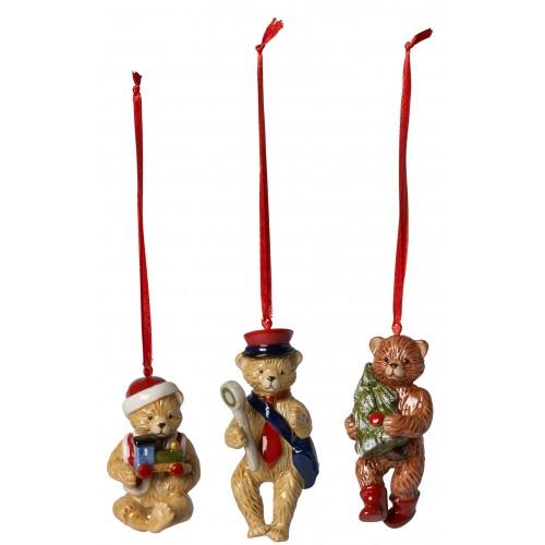 Vianočné ozdoby mackovia, set 3ks 9,5 cm