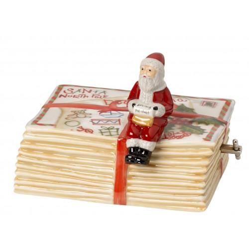 Hracia skrinka knižka so Santom 10,5x7,5x8cm