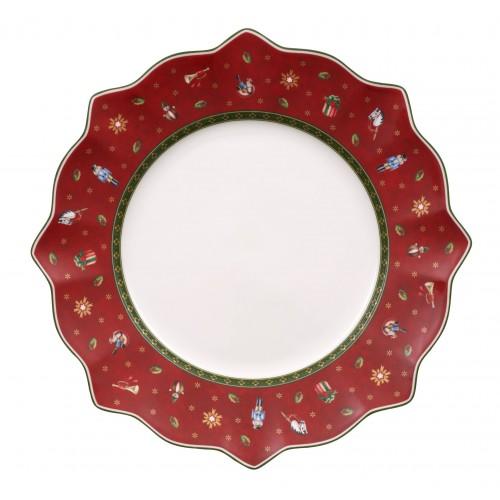 Tanier plytký červený 29 cm