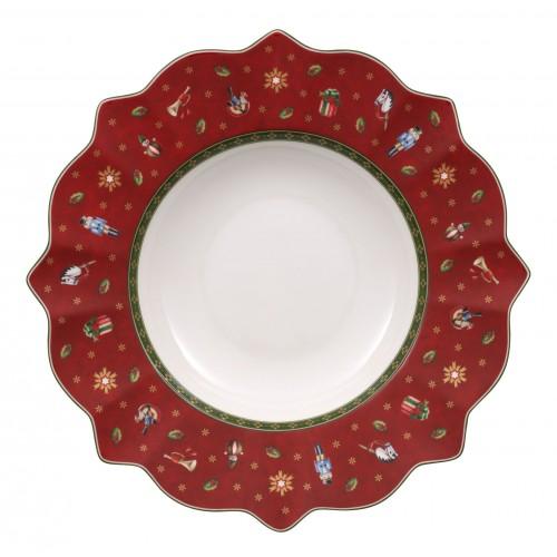 Hlboký tanier červený 26 cm